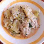 鶏モモと春キャベツの蒸し煮
