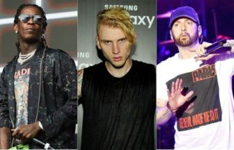 Young Thug、 EminemとMachine Gun Kelly