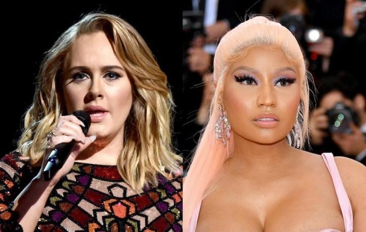 Adele、Nicki Minaj