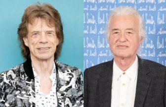Mick JaggerとJimmy Page