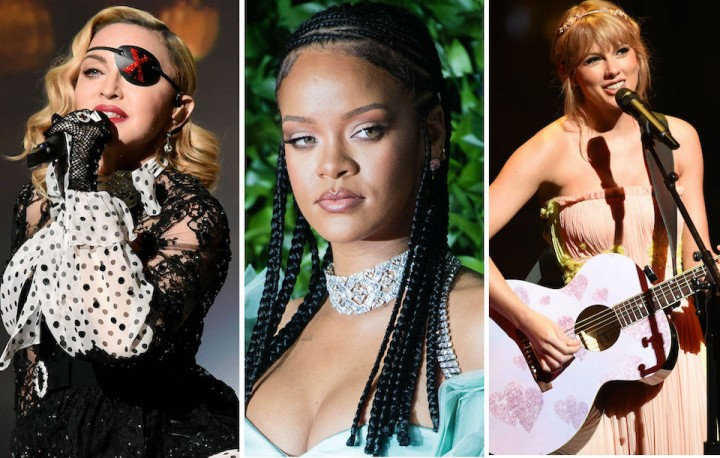 Madonna、Rihanna、Taylor Swift