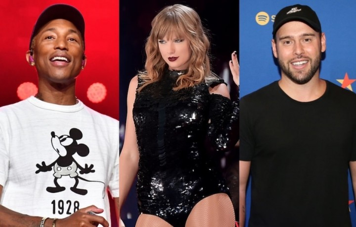 Pharrell Williams、Taylor SwiftとScooter Brown