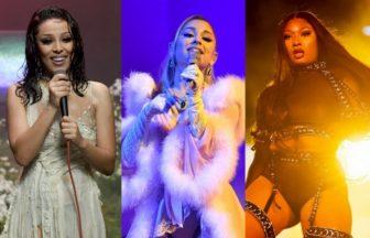 Ariana Grande、Doja CatとMegan Thee Stallion
