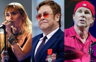 Chad SmithやElton John、Miley Cyrus